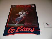 1987 Chicago Bears Football Poster Schedule Topper Display 23 X 17 Rare