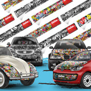 Stickerbomb Car Wrapping For Car-wrapping With Air Channels Brands, Logos