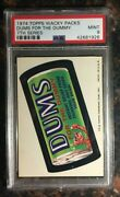 1974 Topps Wacky Packages Dums For The Dummy 7th Series Psa 9 Mint Card