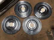 1954 54 Cadillac Wheel Cover Covers Hub Cap Caps Hubcaps Stainless Nice