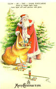 Merry Christmas To You, Glow In The Dark Reproduction Postcard