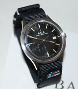 Luxury Ball For Bmw M Automatic Men`s Watch Black Strap / Swiss Made