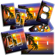 Romantic Sunset Tropical Island Palms Light Switch Outlet Wall Plates Room Decor
