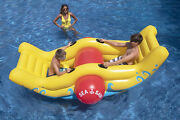 Swimming Pool Inflatable Seesaw Rocker Float Toy Summer Outdoor Water Play Fun