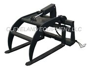 New Hd Pallet Fork / Log Grapple Skid Steer Loader Compact Tractor Attachment Nr