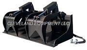 New 60 Hd Grapple Bucket Attachment For Fits Bobcat Skid Steer Track Loader 5and039