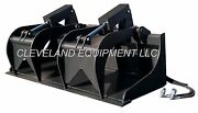New 78 Hd Grapple Bucket Attachment Skid Steer Track Loader Tractor Bobcat Case