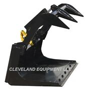New 48 Mini Grapple Bucket Attachment Ditch Witch Mini Skid Steer Track Loader