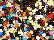 Lego 1000 Assortment Of Hats Hair For Lego Minifigs/minifigure