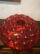 2001 Murano Glass 7of15 Salviati By J.grawunder Called Riccio -rouge 15andtimes15andtimes4 In
