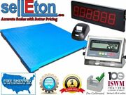 Selleton Industrial Floor Scale With Printer And Scoreboard 10000 X 1 Lb 60 X 60