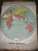 Antique Pull Down Map J.w. Donohue 1901 Three Maps