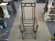 Antique 1800and039s Carpet Rocking Chair Victorian Platform Rocker With Coil Springs