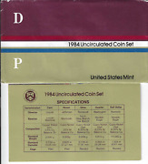 1984 1997 And 1998 Us Mint Uncirculated Coin Set Pandd 30 Coins
