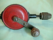 Antique Mohawk Shelburne Hand Drill Made In The U.s.a Tool Woodworking Cabinetry