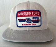 Vintage Snapback Ford Heavy Truck Patch Mesh Trucker Hat Mid Tenn Made In Usa