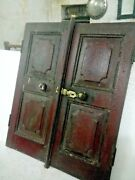 Old Vintage Collectible Early Period Carved Wooden English Art Window Wall Decor