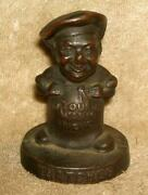 Early 1900s Thacher Furnace Company Advertising Cast Iron Paperweight Or Display