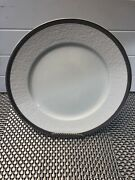Raynaud Limoge Mineral Thierry Silver Chop/buffet Plate White Silver Band 12andrdquo