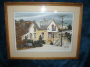 Framed Watercolor Print White House-truckee Ca By Audrey Dygert-ltd.ed.-30x23