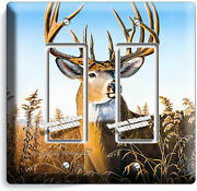 Whitetail Deer Buck Antlers 2 Gfci Light Switch Wall Plate Cabin Room Home Decor