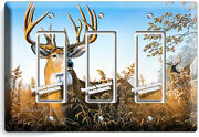 Whitetail Deer Buck Antlers 3 Gfci Light Switch Wall Plate Cabin Room Home Decor
