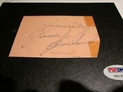 Judy Garland Psa/dna Autograph Cut Signature Signed Authentic - Wizard Of Oz A1