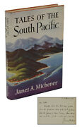 Tales Of The South Pacific Signed By James Michener First Edition 1st 1947
