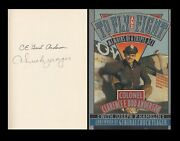 Clarence Bud Anderson Chuck Yeager Signed Book Wwii P-51 Mustang Fighter Ace