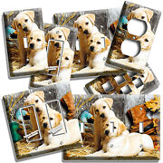 Labrador Puppies Wood Duck Rustic Barn Light Switch Outlet Wall Plate Room Decor