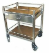 White Stainless Steel Medicine Trolley, Size 26x20x34 Medical, Lab And Caregiving