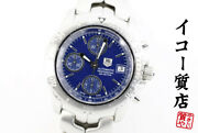 Tag Heuer Link Chronograph Ct2110 Automatic Blue Menand039s Watch From Japan [b0706]