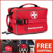 Surviveware Large First Aid Kit For Camping Car Boat Home Office Medical Respond