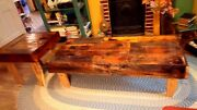 Large Coffee Table And End Table Rustic Reclaimed Barn Wood Custom Built