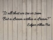 Edgar Allan Poe Dream Within A Dream Poetry Wall Quote Vinyl Sticker Decal