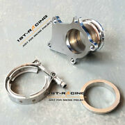 T3/t4 Turbo Down Pipe Stainless Steel Flange To 2.5 V-band Conversion Adapter
