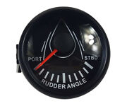 Best 52mm Boat Rudder Angle Indicator Gauge 0-190andomega With Marine Rudder Sensor 12v