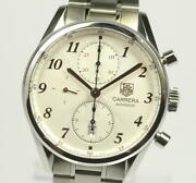 Tag Heuer Carrera Cas 2112. Fc6291 Automatic White Menand039swatch From Japan [b0709]