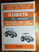 Kubota M8580dt Tractor And Cab Illustrated Parts List Manual 97898-21400 3/91