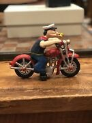 Hubley Cast Iron Popeye Motorcycle Toy Cast Iron Toy Reproduction Replica