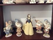 Lladro Andnbspsnow White And Seven Dwarfs Authentic Each Piece Bought In Disney World