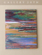 Simply Gorgeous Mid Century Modern Original Abstract Oil Painting Pop Art Vtg