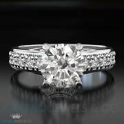 Bridal Diamond Ring D Si 1.35 Ct Enhanced Accented Solitaire Size 5 6 7