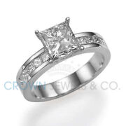 1 1/2 Ct Anniversary Diamond Ring D Vs2 Enhanced Solitaire With Accents
