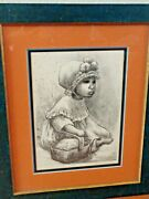 Mexican Baby Lithograph Mid Century Print Fanny Rabel Signed 7 Of 250 Limited