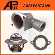 Ford New Holland 6710 7000 7100 7200 Tractor 88 C Thermostat + Housing And Gasket