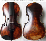 Old German Master Violin G.a. Thumhart 1830s - Video- Antique バイオリン скрипка 194