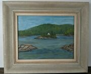 H. U. Ross Ganley Harbour Lake Superior 1959 Group Of Seven Style Painting