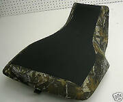 Yamaha Grizzly Seat Cover 350 400 450 660 Black Gripper And Camo Sides