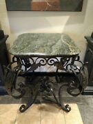 Vintage French Iron Baker's Table